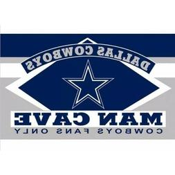 NFL Dallas Cowboys Man Cave Flag with 4 Grommets, 3 x 5-Feet