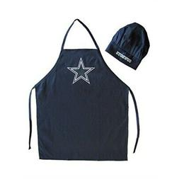 NFL Dallas Cowboys Chef Hat and Apron Set, Navy, One Size