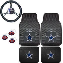 NFL Dallas Cowboys Floor Mats Steering Wheel Cover & Air Fre