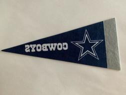 "NFL Dallas Cowboys Mini Pennant Flag 4""x9"" NEW Football Deco"