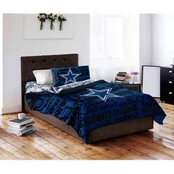 NFL Dallas Cowboys Sports QUEEN Bed in a Bag Bedding Comfort