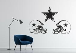nfl dallas cowboys wall decal team football