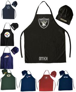 NFL Football Team Barbecue Tailgating Apron And Chef's Hat