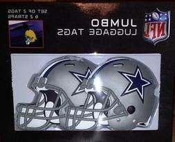 NFL Dallas Cowboys Jumbo Luggage Tags And Straps Set of 2