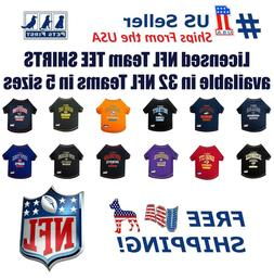 NFL Pet T-Shirt. Licensed, Wrinkle-free, Tee Shirt for Dogs/
