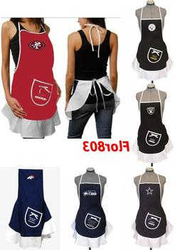 NFL Team Hostess Apron,Tailgating Grilling Party BBQ