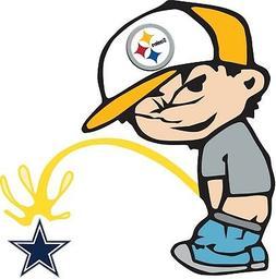Pittsburgh Steelers Piss On Dallas Cowboys Vinyl Decal CHOOS