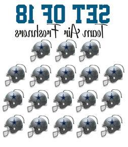 set of 18 dallas cowboys team helmet