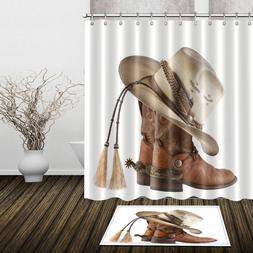 western dallas cowboys shower curtain waterproof fabric